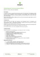 Marketing And Communications Officer Vanuatu Job Description Wok I Kik